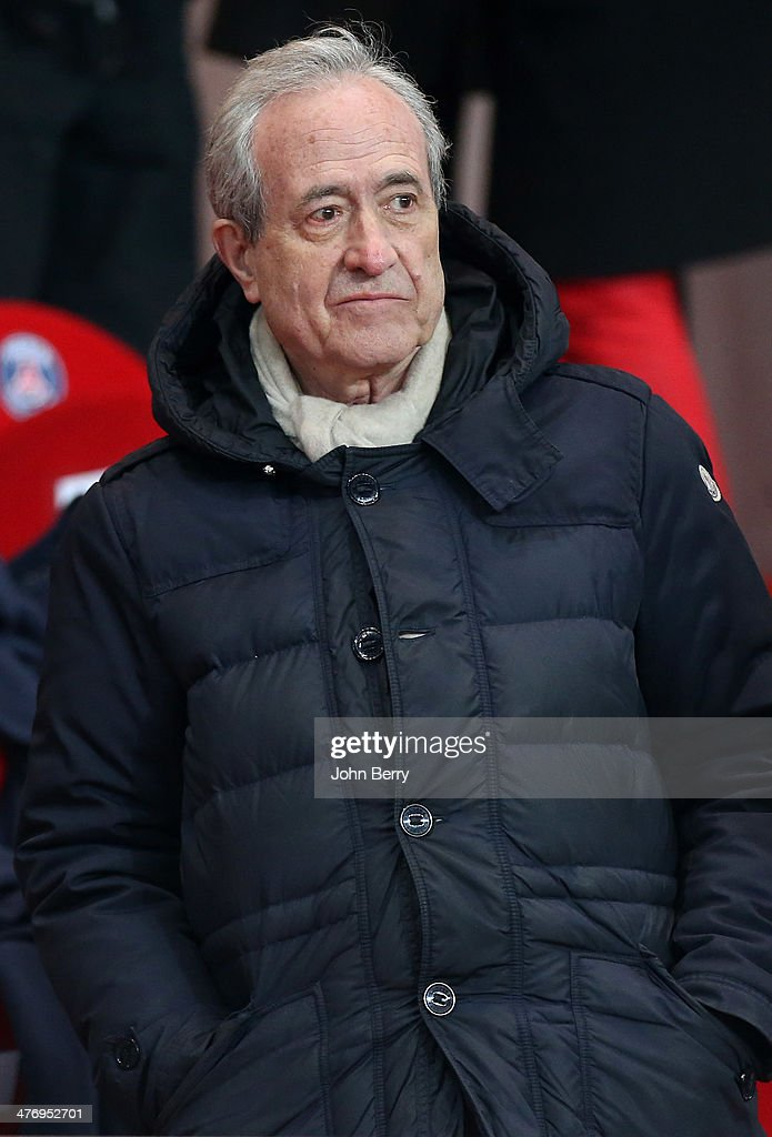 Former mayor of Paris <a gi-track='captionPersonalityLinkClicked' href=/galleries/search?phrase=Jean+Tiberi&family=editorial&specificpeople=2365255 ng-click='$event.stopPropagation()'>Jean Tiberi</a> attends the Ligue 1 match between Paris Saint-Germain FC and Olympique de Marseille at Parc des Princes stadium on March 2, 2014 in Paris, France.