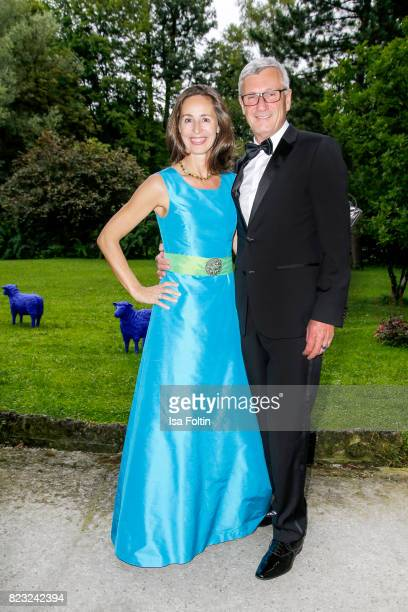 Former Mayor of Salzburg Harald Preuner and his wife Ali Preuner during the International Salzburg Association Gala on July 26 2017 in Salzburg...