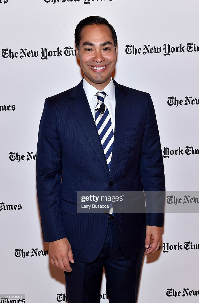 Former Mayor of San Antonio Julian Castro attends NY Times Cities For Tomorrow Conference on July 21, 2015 in New York City.