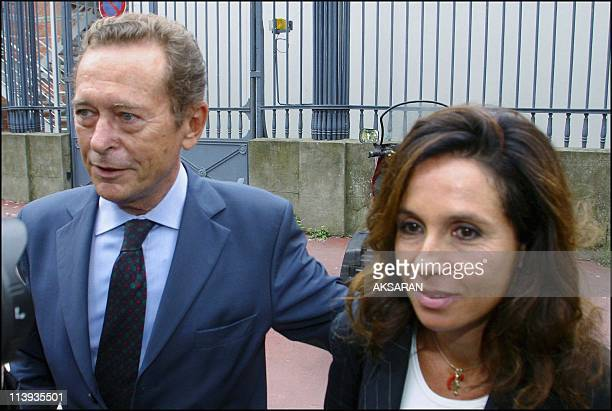 Former mayor of Toulouse and President of CSA Dominique Baudis leaving court of Toulouse after being heard by judge Thierry Perriquet in the Alegre...