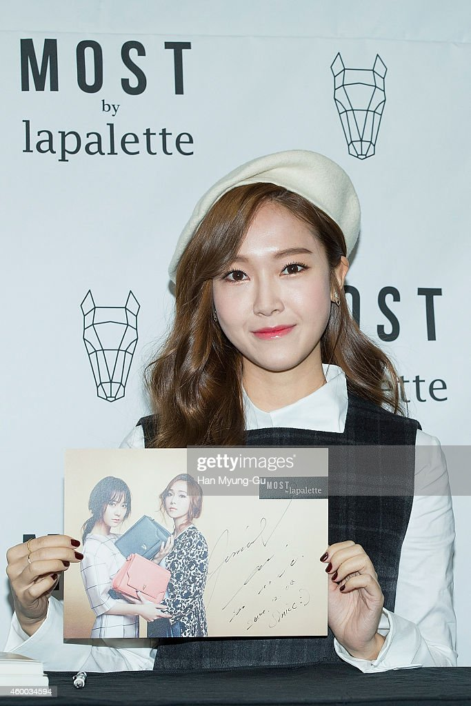 Former member of Girl's Generation Jessica attends the autograph session for 'Lapalette' on December 6, 2014 in Seoul, South Korea.