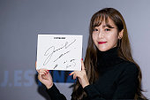 Former member of Girl's Generation Jessica attends the autograph session for 'JESTINA RED' at CGV on November 7 2015 in Seoul South Korea