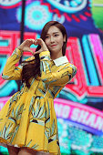 Former member of Girl's Generation Jessica in action during 'Tian Tian Xiang Shang' taping at Hunan Television on December 17 2015 in Changsha China