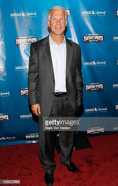 Former Mets general manager Steve Phillips attends the SIRIUS XM Radio celebrity fantasy football draft at Hard Rock Cafe Times Square on July 21...