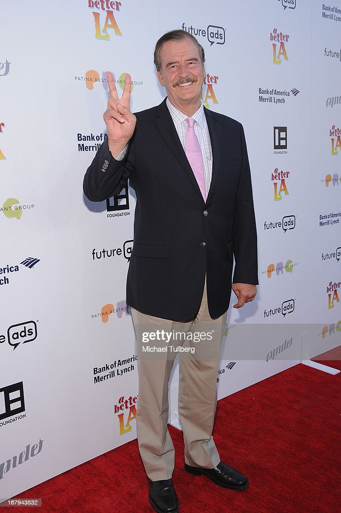 Former Mexican President Vicente Fox attends A Better LA's 'An Evening With A View' Annual Gala at AT&T Center on May 2, 2013 in Los Angeles, California.