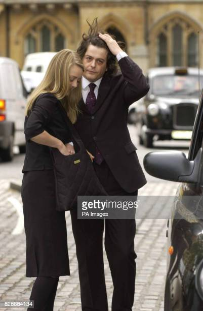 Former MI5 employee David Shayler and partner Annie Machon arrive at Methodist Central Hall London for the Saville Inquiry