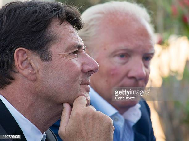 Former minister and President of the Association Brice Hortefeux and mayor of Nice former minister and General Secretary of the Association Christian...
