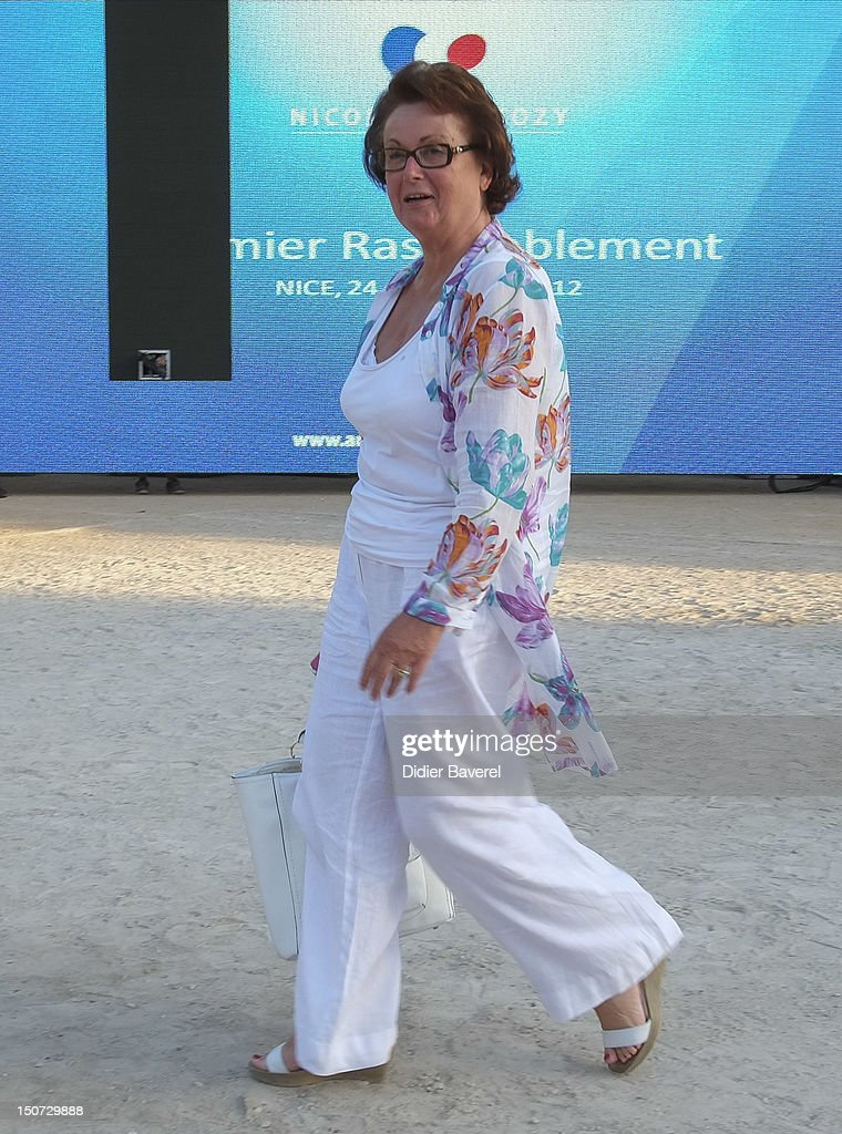 Former minister <a gi-track='captionPersonalityLinkClicked' href=/galleries/search?phrase=Christine+Boutin&family=editorial&specificpeople=4055950 ng-click='$event.stopPropagation()'>Christine Boutin</a> attends the first Rally of the association The friends of Nicolas Sarkozy on August 24, 2012 in Nice, France.