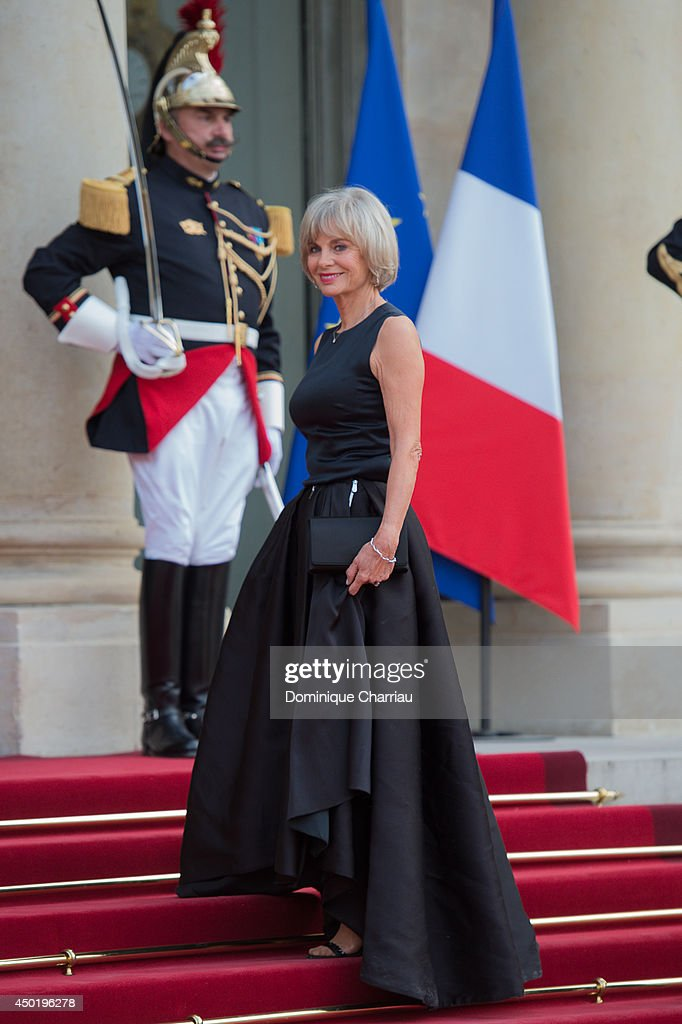 Former minister Elisabeth Guigou arrives at the Elysee Palace for a State dinner in honor of Queen Elizabeth II, hosted by French President Francois Hollande as part of a three days State visit of Queen Elizabeth II after the 70th Anniversary Of The D-Da on June 6, 2014 in Paris, France.