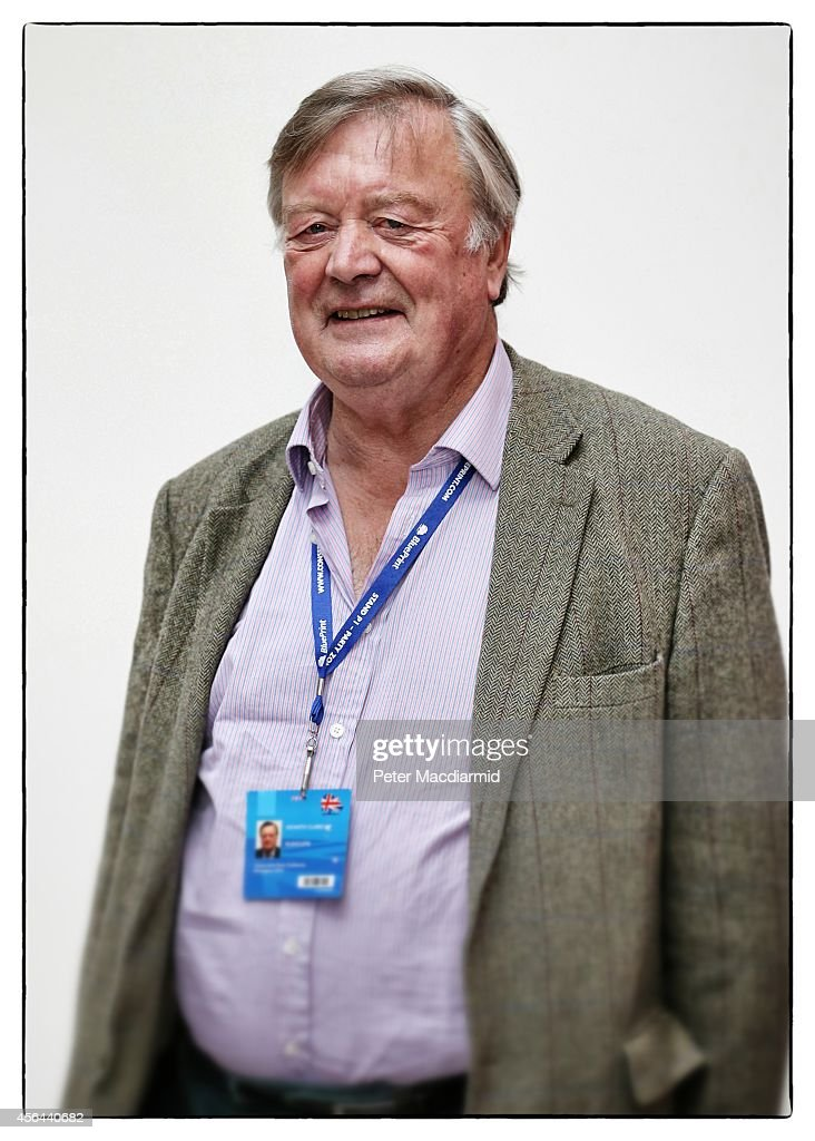 Former minister Ken Clarke poses for a photograph as he attends the Conservative party conference on September 30 2014 in Birmingham England Prime...