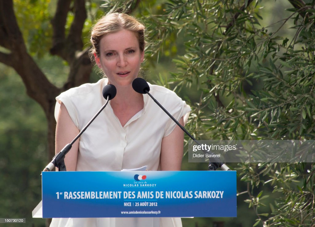 Former minister Nathalie Kosciusko Morizet gives a speech during the second day of the National association of the friends of Nicolas Sarkozy on August 25, 2012 in Nice, France.