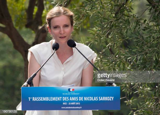 Former minister Nathalie Kosciusko Morizet gives a speech during the second day of the National association of the friends of Nicolas Sarkozy on...