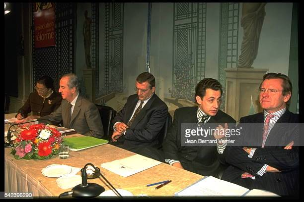 Former minister of Health Social affairs and City Simone Veil and former Prime Minister Edouard Balladur former minister of Defence François Leotard...