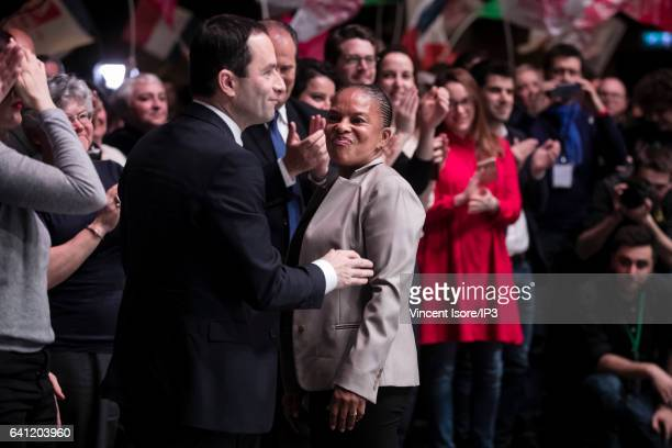 Former Minister of Justice Christiane Taubira attends the National Investiture Convention of the candidate of the Socialist Party for the 2017 French...