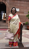 Former Minister of Minority Affairs Najma Heptullah during the Parliament Monsoon session on July 18 2016 in New Delhi India A total of 25 bills...