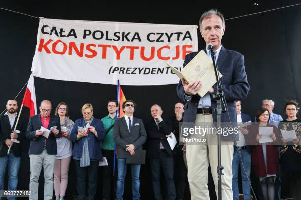 A former Minister of National Defence of Poland Bogdan Klich attends 'All Poland reads the Constitution' rally during the celebration of the 20th...
