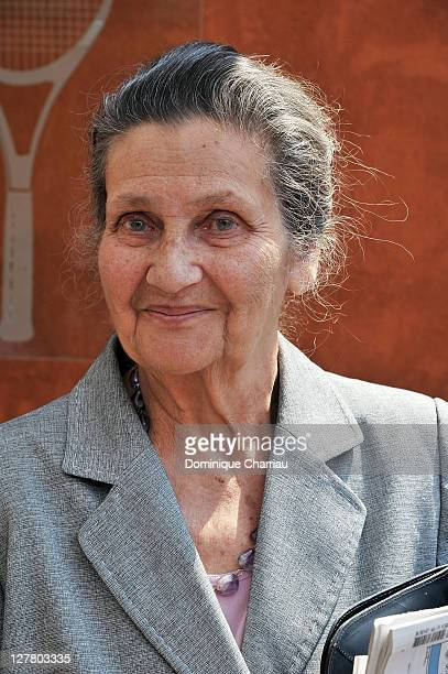 Former Minister Simone Veil attends the French open at Roland Garros on June 4 2011 in Paris France