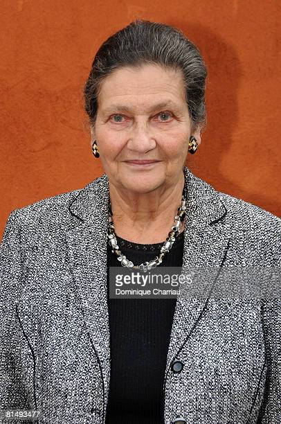 Former Minister Simone Veil attends the French open in Roland Garros on June 8 2008 Paris France