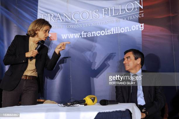 Former minister Valerie Pecresse delivers a speech eyed by former French Prime minister and candidate to take over the leadership of UMP France's...