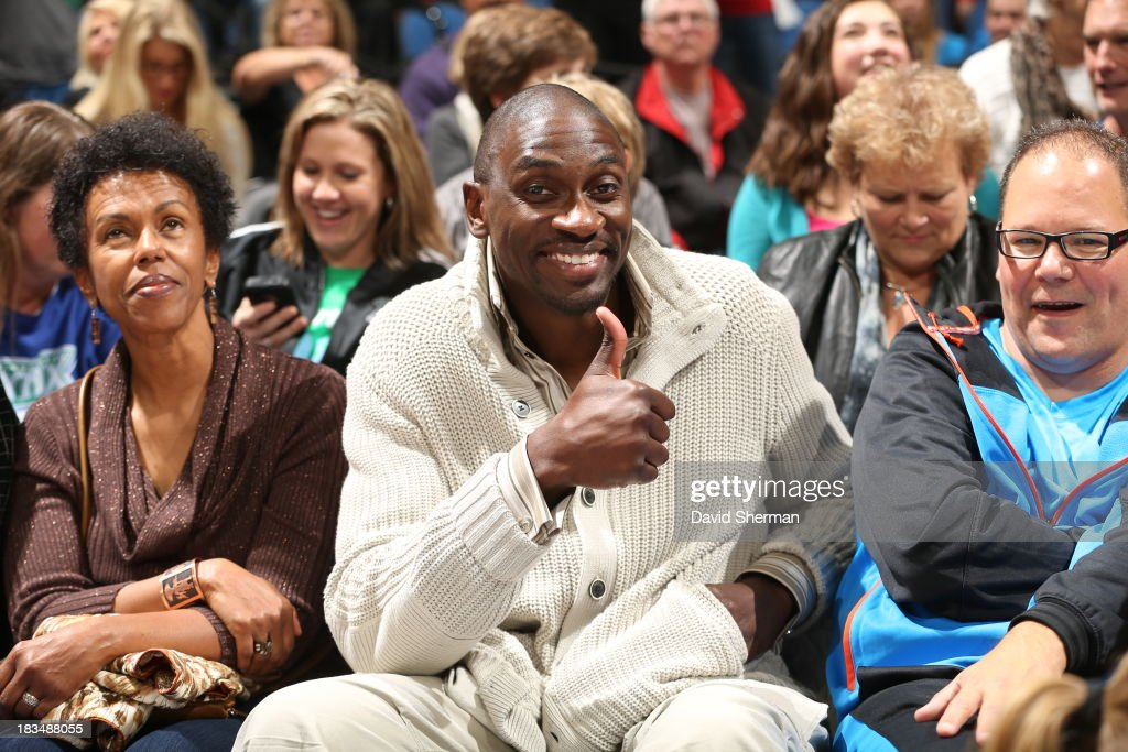 Former Minnesota Timberwolves' Chris Car attends Game 1 of the 2013 WNBA Finals between the Minnesota Lynx and the Atlanta Dream on October 6, 2013 at Target Center in Minneapolis, Minnesota.