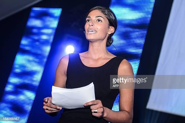 Former miss Belgium Tatiana Silva attends the opening of Europe's biggest center for innovation 'Living Tomorrow 2020' in Vilvoorde on December 19...
