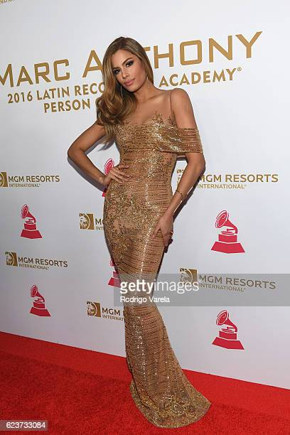 Former Miss Colombia Ariadna Gutierrez attends the 2016 Person of the Year honoring Marc Anthony at the MGM Grand Garden Arena on November 16 2016 in...