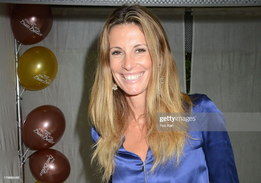 Former Miss France 1998/ TV presenter Sophie Thalmann attends the Duo Delice Dog Food Launch Party at 6 Mandel on September 6, 2013 in Paris, France.