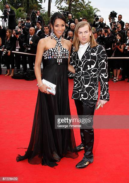 Former Miss France 2005 Cindy Fabre and Christophe Guillarme attend the Spring Fever Premiere at the Grand Theatre Lumiere during the 62nd Annual...
