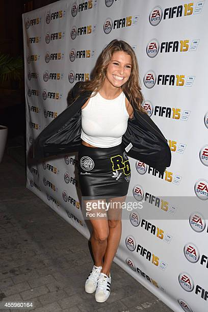 Former Miss France 2010 Laury Thilleman attends the 'Fifa 15' Party At L'Opera Restaurant on September 22 2014 in Paris France