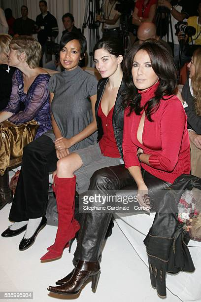 Former Miss France Sonia Rolland and French actresses Delphine Chaneac and Natacha Amal at the Jean Louis Scherrer readytowear SpringSummer 2007...