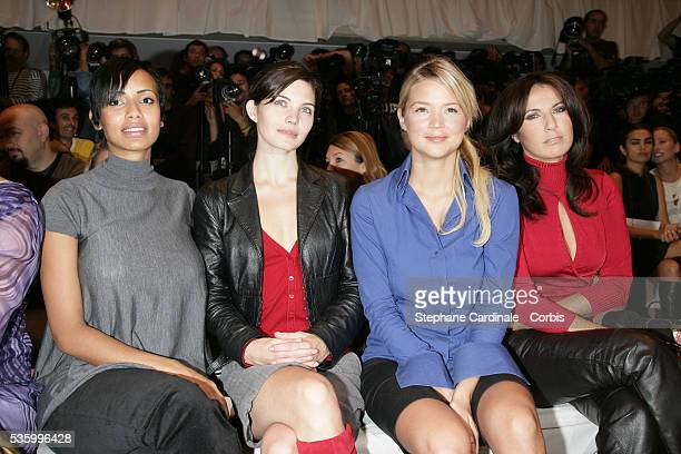 Former Miss France Sonia Rolland French actress Delphine Chaneac French television host Virginie Efira and French actress Natacha Amal at the Jean...
