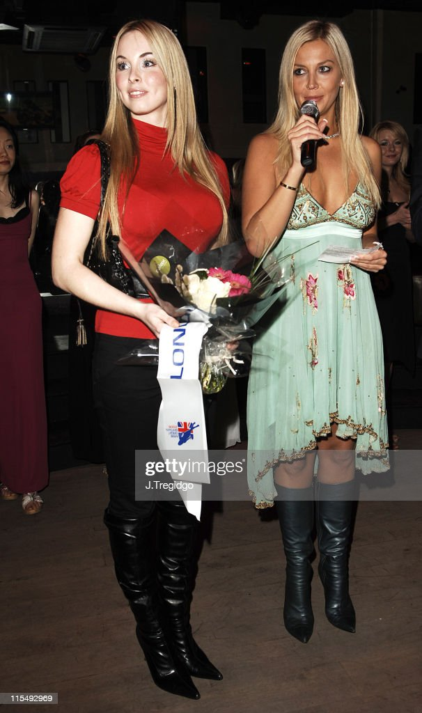Former Miss Great Britain and Liz Fuller during Miss Great Britain 2006 Semi Finals at Embassy Club in London Great Britain