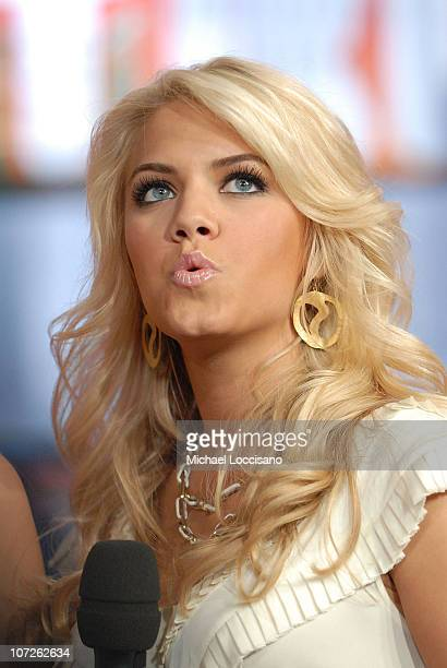Former Miss Teen USA Katie Blair appears on MTV's 'TRL' at MTV Studios in New York City's Times Square on October 8 2007 The air date for this show...