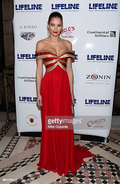 Former Miss Universe 2008 Dayana Mendoza attends the 2010 Princes Ball Mardi Gras Masquerade Gala at Cipriani 42nd Street on February 5 2010 in New...