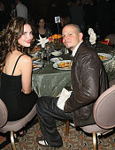 Former Miss Universe Denise Quinones and musician Residente of Calle 13 inside the 8th Annual Latin GRAMMY Awards Person of the Year celebration at...