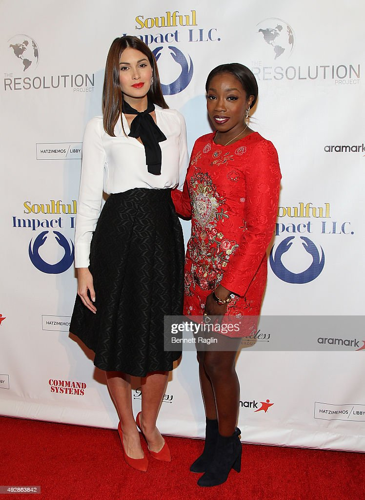Former Miss Universe Gabriela Isler and recording artist Estelle attend The Resolution Project's Resolve 2015 Gala at The Harvard Club on October 15, 2015 in New York City.