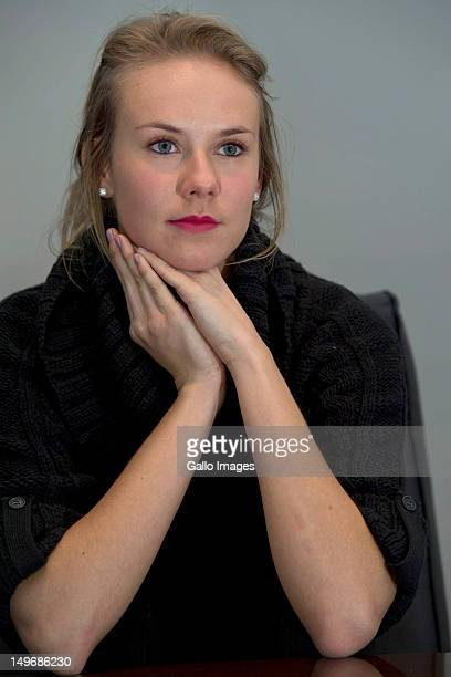 Former Miss Universe New Zealand Avianca Bohm during an interview on August 2 2012 in Pretoria South Africa The South African born Bohm was stripped...