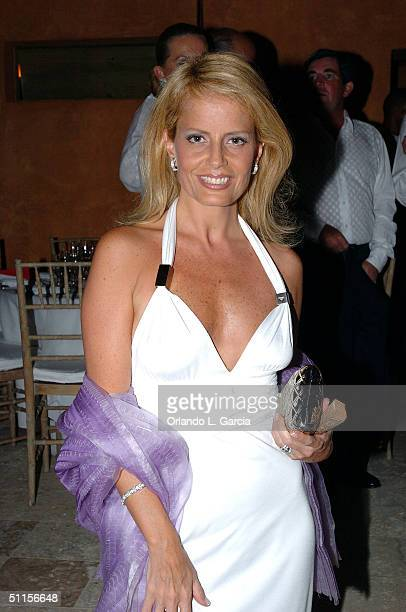 Former Miss Universe of 1987 Cecilia Bolocco attends the new Sylvia Tcherassi collection at The Mir Foundation Fashion Show and Gala At La Romana...