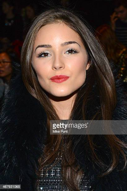 Former Miss Universe Olivia Culpo attends Fall 2014 Mercedes Benz Fashion Week on February 7 2014 in New York City