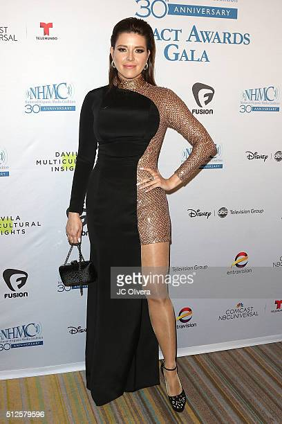 Former Miss Universe/actress Alicia Machado attends the 19th Annual National Hispanic Media Coalition Impact Awards Gala at Regent Beverly Wilshire...