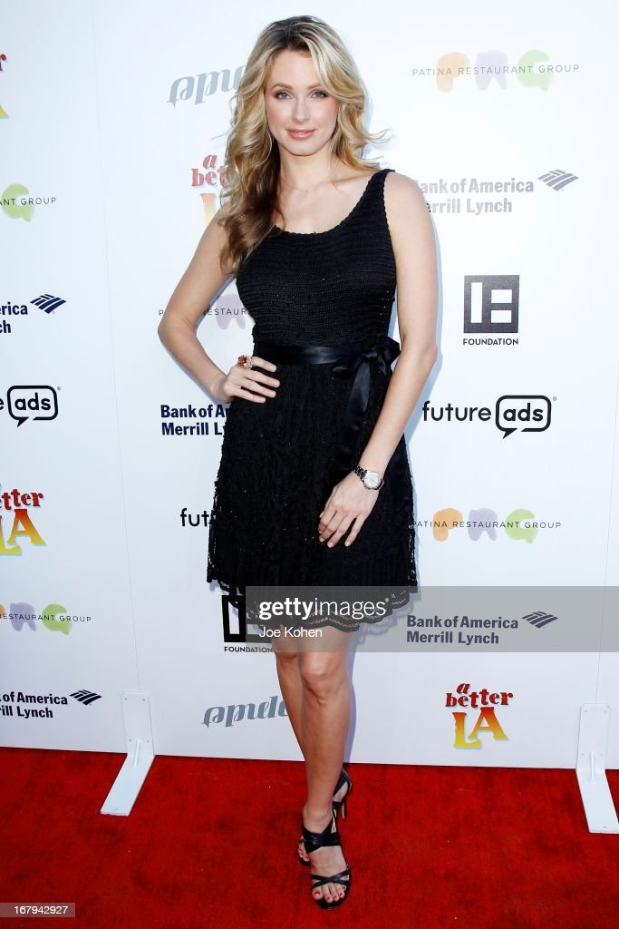 Former Miss USA Shandi Finnessey attends a Better LA celebrates 10 Years With 'An Evening With A View' Gala at AT&T Center on May 2, 2013 in Los Angeles, California.