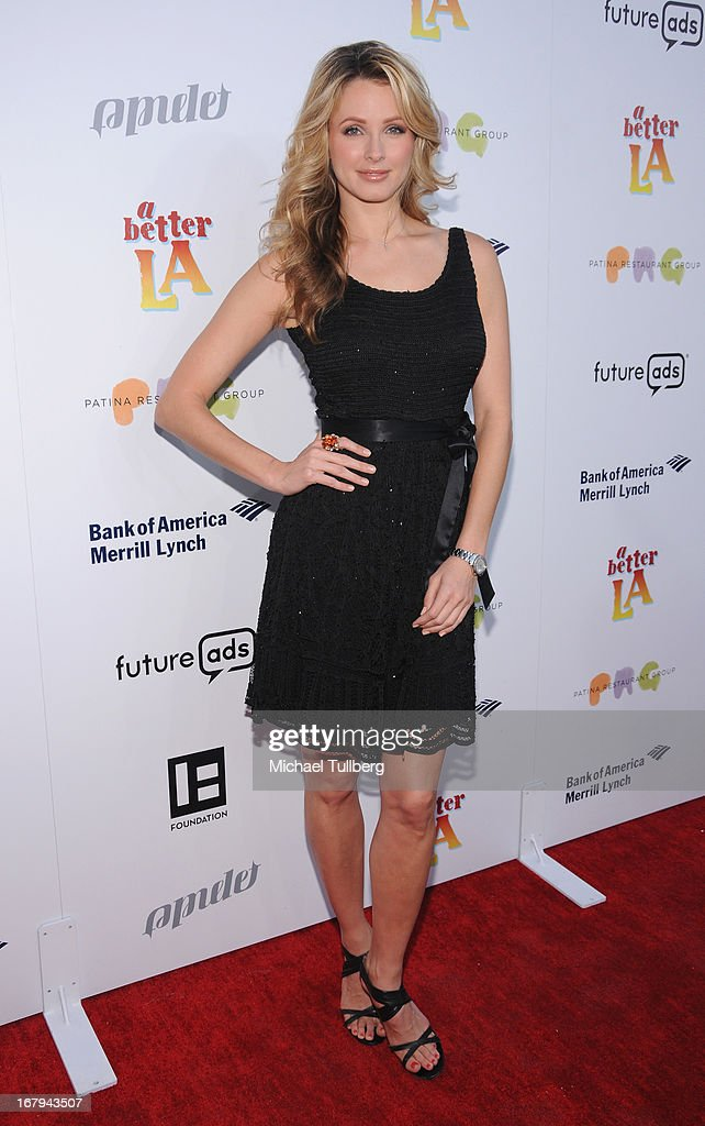 Former Miss USA Shandi Finnessey attends A Better LA's 'An Evening With A View' Annual Gala at AT&T Center on May 2, 2013 in Los Angeles, California.