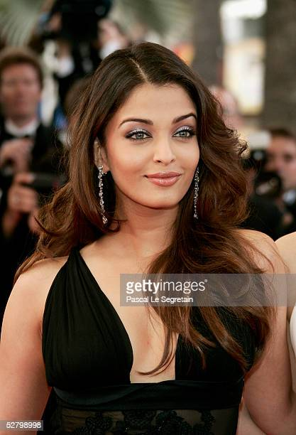 Former Miss World Indian model and film star Aishwarya Rai attend the premiere for the film 'Lemming' at Le Palais de Festival on the opening night...