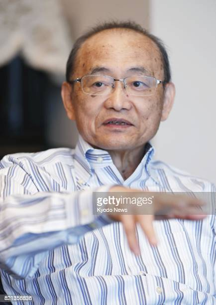 Former Miyagi Gov Shiro Asano speaks during an interview with Kyodo News in Yokohama near Tokyo on June 9 2017 Asano who also was a welfare ministry...