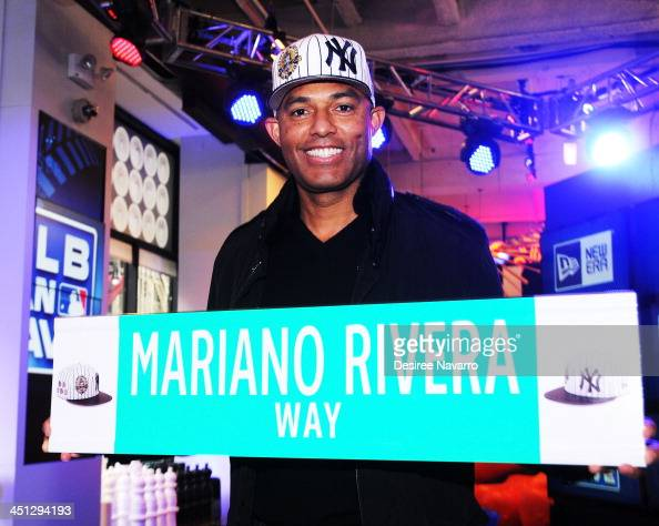 Former MLB New York Yankees pitcher and legendary closer of all time Mariano Rivera attends the rename of 4th Street Broadway as Mariano Rivera Way...