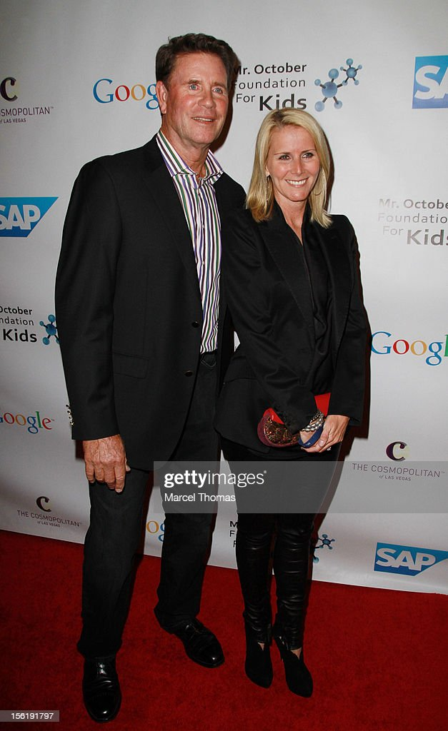 Former MLB pitcher Jim Palmer and wife Susan Schmidt attend the 8th All Star Celebrity Classic benefiting the Mr October Foundation for Kids at Cosmopolitan Hotel on November 11, 2012 in Las Vegas, Nevada.