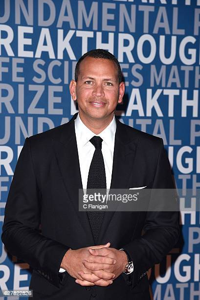 Former MLB Player Alex Rodriguez attends the Breakthrough Prize at NASA Ames Research Center on December 4 2016 in Mountain View California