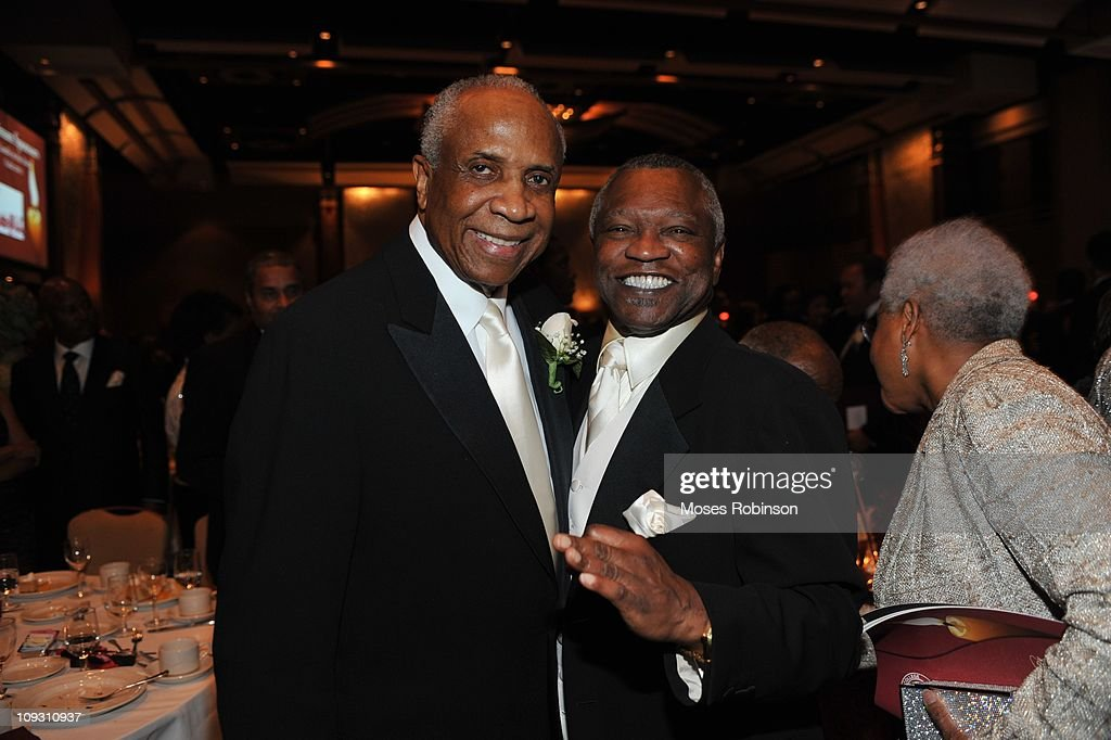 Former MLB Player and Hall of Famer Frank Robinson and boxing promoter Butch Lewis attend the 23rd Annual 'A Candle in the Dark' Gala at the Hyatt Regency on February 19, 2011 in Atlanta, Georgia.