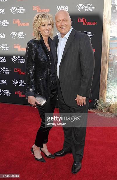 Former MLB Player Cal Ripken Jr and Kelly Ripken arrive at 'The Lone Ranger' World Premiere at Disney's California Adventure on June 22 2013 in...