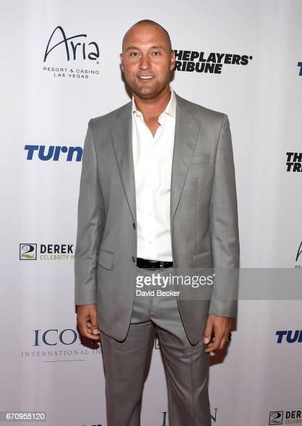 Former MLB player Derek Jeter attends the 2017 Derek Jeter Celebrity Invitational gala at the Aria Resort Casino on April 20 2017 in Las Vegas Nevada